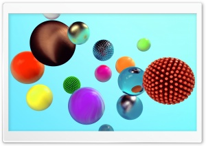 Spheres 3D Design HD Wide Wallpaper for 4K UHD Widescreen desktop & smartphone