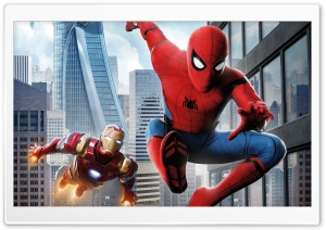 Spider Man Homecoming Iron Man HD Wide Wallpaper for Widescreen