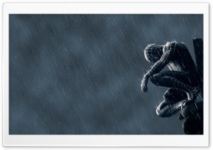 Spider Man In The Rain HD Wide Wallpaper for Widescreen