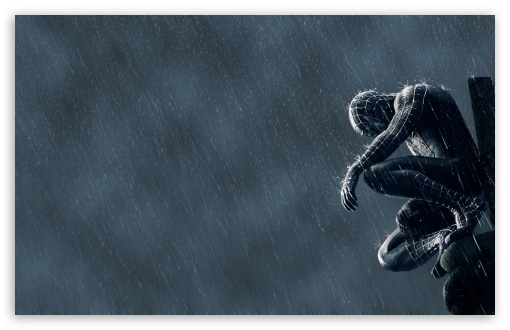 Spider Man In The Rain HD wallpaper for Standard 4:3 5:4 Fullscreen UXGA XGA SVGA QSXGA SXGA ; Wide 16:10 5:3 Widescreen WHXGA WQXGA WUXGA WXGA WGA ; HD 16:9 High Definition WQHD QWXGA 1080p 900p 720p QHD nHD ; Other 3:2 DVGA HVGA HQVGA devices ( Apple PowerBook G4 iPhone 4 3G 3GS iPod Touch ) ; Mobile VGA WVGA iPhone iPad PSP Phone - VGA QVGA Smartphone ( PocketPC GPS iPod Zune BlackBerry HTC Samsung LG Nokia Eten Asus ) WVGA WQVGA Smartphone ( HTC Samsung Sony Ericsson LG Vertu MIO ) HVGA Smartphone ( Apple iPhone iPod BlackBerry HTC Samsung Nokia ) Sony PSP Zune HD Zen ; Tablet 2 Android ;