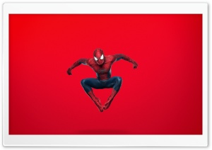 Spider Man Jumping (Red Background) Ultra HD Wallpaper for 4K UHD Widescreen desktop, tablet & smartphone