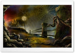 Spider Web Hallowmas Halloween HD Wide Wallpaper for 4K UHD Widescreen desktop & smartphone