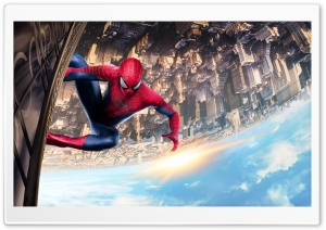 Spiderman Climbing Building HD Wide Wallpaper for Widescreen
