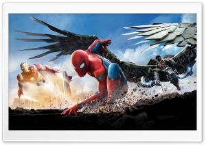 SPIDERMAN HOMECOMING 2017 HD Wide Wallpaper for Widescreen