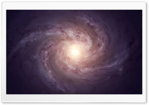 Spiral Galaxy Light HD Wide Wallpaper for Widescreen