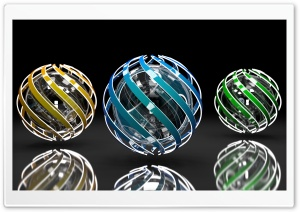 Spiral Orbs HD Wide Wallpaper for Widescreen