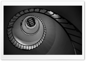 Spiral Stairs HD Wide Wallpaper for Widescreen