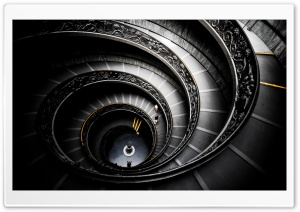 Spiral Stairs, Vatican Museums HD Wide Wallpaper for Widescreen