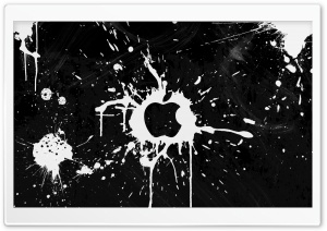 Splash Black HD Wide Wallpaper for Widescreen