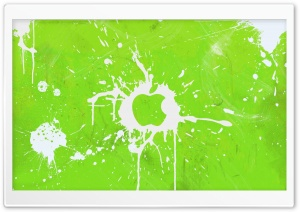 Splash Green HD Wide Wallpaper for Widescreen