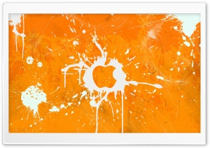 Splash Orange HD Wide Wallpaper for Widescreen
