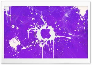 Splash Purple HD Wide Wallpaper for Widescreen