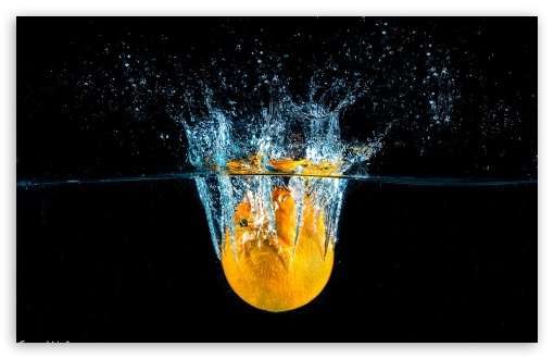 Download Splash Water Citrus HD Wallpaper