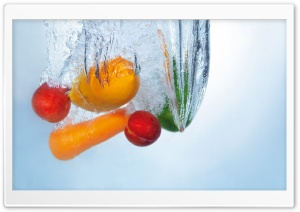 Splashing Fruits HD Wide Wallpaper for Widescreen