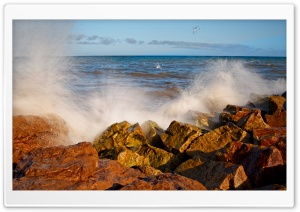 Splashing Wave Long Exposure HD Wide Wallpaper for Widescreen