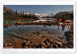 Splendid Mountain Lakes HD Wide Wallpaper for Widescreen