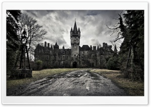 Spooky Castle HD Wide Wallpaper for Widescreen