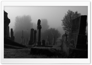 Spooky Cemetery HD Wide Wallpaper for Widescreen