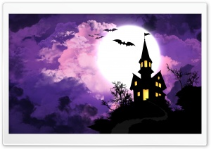 Spooky Halloween HD Wide Wallpaper for Widescreen
