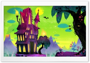 Spooky House Cartoon Ultra HD Wallpaper for 4K UHD Widescreen desktop, tablet & smartphone