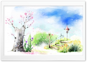 Spring Art HD Wide Wallpaper for Widescreen