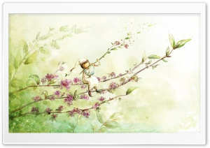 Spring Art 1 HD Wide Wallpaper for Widescreen