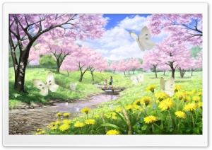 Spring Illustration HD Wide Wallpaper for Widescreen