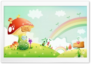 Spring Landscape With Rainbow 2 HD Wide Wallpaper for Widescreen