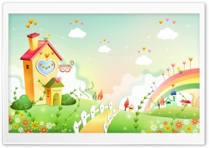 Spring Landscape With Rainbow 3 HD Wide Wallpaper for Widescreen