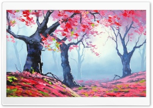 Spring Painting HD Wide Wallpaper for Widescreen
