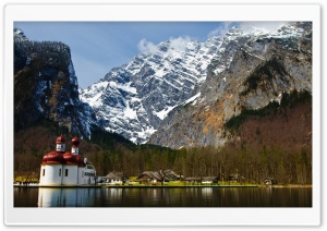 St. Bartholomew's Church, Berchtesgaden, Germany HD Wide Wallpaper for Widescreen