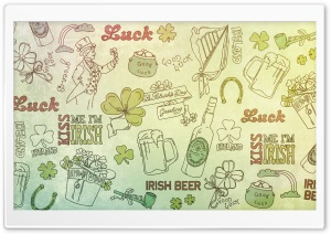 St. Patricks Day Good Luck Background HD Wide Wallpaper for Widescreen