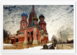 St Basil's Cathedral in Moscow, Russia HD Wide Wallpaper for Widescreen