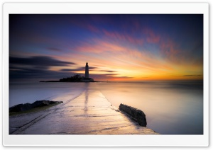 St Mary s Lighthouse, Whitley Bay, United Kingdom Ultra HD Wallpaper for 4K UHD Widescreen desktop, tablet & smartphone