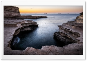 St Peters Pool A Natural Swimming Pool, Marsaxlokk, Malta Ultra HD Wallpaper for 4K UHD Widescreen desktop, tablet & smartphone