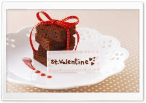 St Valentine Cake HD Wide Wallpaper for Widescreen