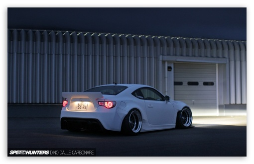 Stanced White Rocket Bunny Scion Frs By Speed Hunters Dino Dalle