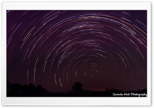 Star Trails HD Wide Wallpaper for Widescreen