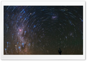 Star Trails over Atacama Desert HD Wide Wallpaper for Widescreen