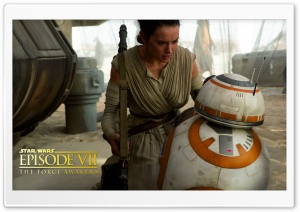 Star Wars Episode VIII - Rey and BB-8 HD Wide Wallpaper for 4K UHD Widescreen desktop & smartphone