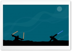 Star Wars Lightsaber Fight HD Wide Wallpaper for Widescreen