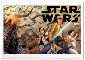 Star Wars Marvel Comic HD Wide Wallpaper for Widescreen