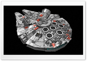 Star Wars Spaceship Millenium Falcon HD Wide Wallpaper for 4K UHD Widescreen desktop & smartphone