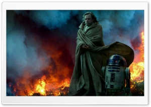Star Wars The Rise of Skywalker Ghost Luke and R2 Ultra HD Wallpaper for 4K UHD Widescreen desktop, tablet & smartphone