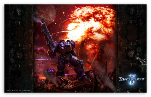 Starcraft 2, Marine HD wallpaper for Wide 16:10 5:3 Widescreen WHXGA WQXGA WUXGA WXGA WGA ; HD 16:9 High Definition WQHD QWXGA 1080p 900p 720p QHD nHD ; Mobile 5:3 16:9 - WGA WQHD QWXGA 1080p 900p 720p QHD nHD ;