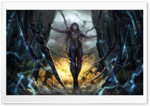 StarCraft II Heart of the Swarm Kerrigan HD Wide Wallpaper for Widescreen