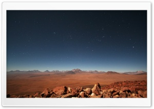 Starry Desert Sky HD Wide Wallpaper for Widescreen