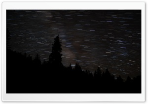 Starry Night HD Wide Wallpaper for Widescreen