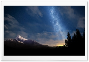 Starry Night Sky HD Wide Wallpaper for Widescreen