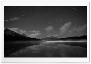 Starry Sky Monochrome HD Wide Wallpaper for Widescreen